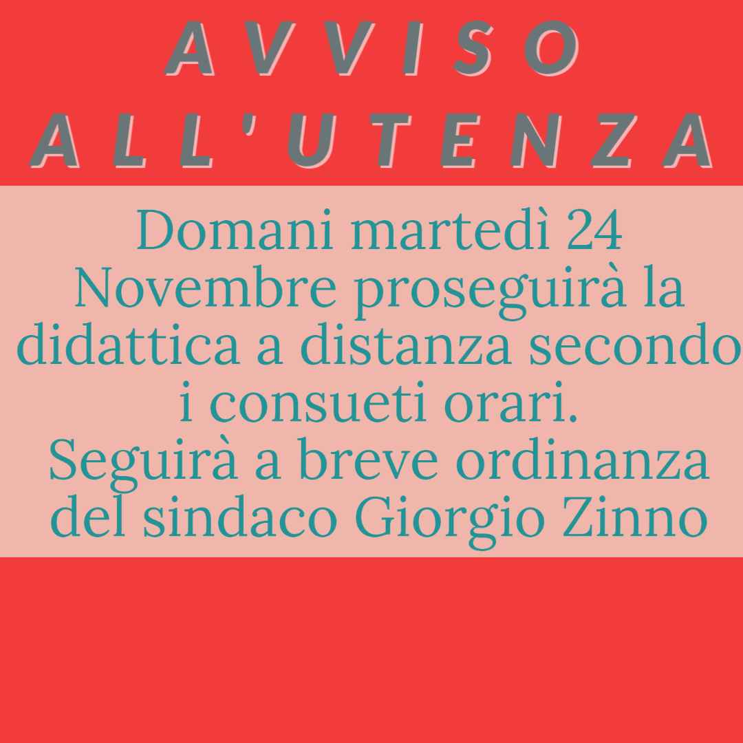 Avviso all'utenza dell'IC Don Milani Dorso